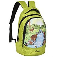 Buy Zwart 10 Ltrs Green Printed Children's Backpack from Amazon
