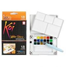 Sakura XNCW-18N 18-Piece Koi Assorted Water Colors Field Sketch Set with Brush for Rs. 1,250