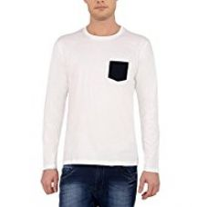 Buy The Cotton Company Men's Full Sleeve Round Neck T Shirt with Contrast Pocket from Amazon