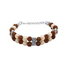 Valentine Gifts: Dare By Voylla Alloy With Oxidized Silver Plated Faux Stone Bracelet For Men, Boyfriend & Husband for Rs. 292