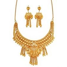 Variation Gold Plated Wedding Jewellery Necklace Set for Women - VD14962 for Rs. 399