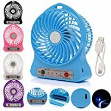 Insasta 3 Speeds Electric Portable Mini fan Rechargeable Desktop Fan Battery and USB Charge Cable for Rs. 195