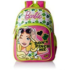 Barbie Pink and Green Children's Backpack (Age group :8-12 yrs) for Rs. 715