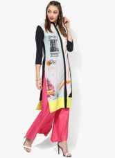 Buy W Multicoloured Printed Cotton Kurta from Jabong