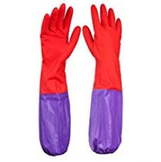 Buy Hokipo Reusable Latex Hand Gloves For Kitchen, Free Size, 1 Pair from Amazon