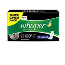 Buy Whisper Ultra Overnight Sanitary Pads XL Wings - 30 Piece Pack from Amazon