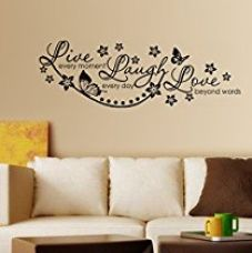 Decals Design 'Live Laugh and Love Family' Wall Sticker (PVC Vinyl, 60 cm x 45 cm, Black) for Rs. 149