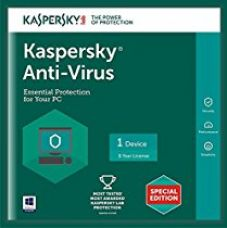 Kaspersky Anti-Virus Latest Version - 1 PC, 1 Year (CD) for Rs. 249