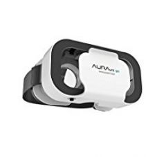 Buy AuraVR Go Virtual Reality Light Weight Plastic VR Headset With Inbuilt Clicker/Touch Button For Smartphones up to 5.5
