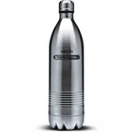 Buy Milton Thermosteel Duo Deluxe-1000 Bottle Style Vacuum Flask, 1 Litre, Silver from Amazon
