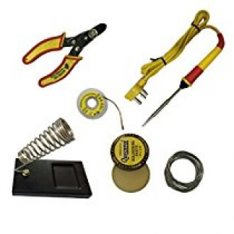 Generic 6 in1 Electric Soldering Iron Stand Tool Wire Stripper Kit 25 Watt Welding Stick Set for Rs. 249