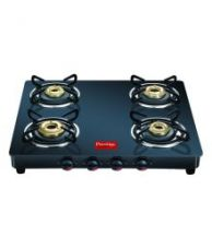 Get 37% off on Prestige GTM04 Black 4 Burner Glass Manual Gas Stove
