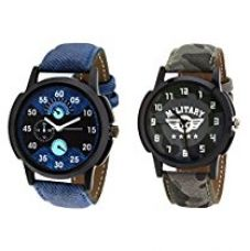 Buy Relish Combo of 2 Analogue Multicolor Dial Mens Watches-Relish-930C from Amazon