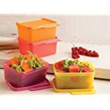 Buy Tupperware Keep Tab Plastic Container Set, 500ml, Set of 4, Multicolour from Amazon