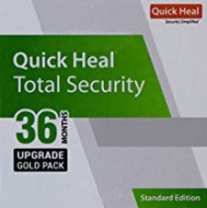Quick Heal Total Security Latest Version Renewal Upgrade Gold Pack - 1 User, 3 Year (CD) for Rs. 1,299