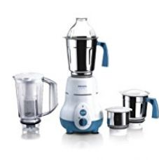 Buy Philips Hl1645 750-watt 3 Jar Vertical Mixer Grinder and Blender Jar with Fruit Filter, Blue from Amazon
