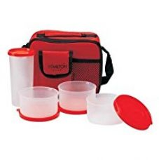 Milton Meal Combi Plastic Lunch Box, Red for Rs. 305