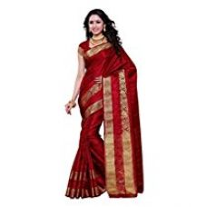 Mimosa Women's Silk Saree (2092-Sd-Mrn_Maroon) for Rs. 799