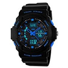 SKMEI Analog-Digital Multi-Colour Dial Men's Watch - AD0955 (BK Blue) for Rs. 472