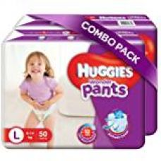 Huggies Wonder Pants Large Size Diapers (Pack of 2, 50 Counts per Pack) for Rs. 978