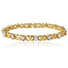 Buy Mahi Gold Plated Brass Alloy With Crystal Single Strand Bracelet For Women Br1100126G from Amazon