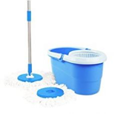 Premsons Spin Mop and Bucket Magic with 2 Mirofiber Refills (Color May Vary) for Rs. 599