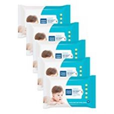Mee Mee Caring Baby Wet Wipes with Lemon Fragrance - 30 pcs (Pack of 5) for Rs. 235