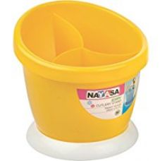 Flat 13% off on Nayasa Jerry Plastic Cutlery Stand, Yellow