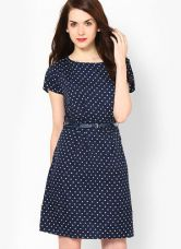 Mayra Navy Blue Colored Printed Shift Dress for Rs. 599