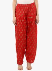 Libas Red Printed Salwar for Rs. 569