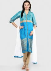 Flat 70% off on Aurelia Blue Printed Suit Set