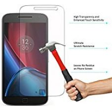 DMG Tempered Glass, iKare Tempered Glass Screen Protector for Motorola Moto G4 Plus (2.5D Smooth Edge Ultra Clear) for Rs. 199
