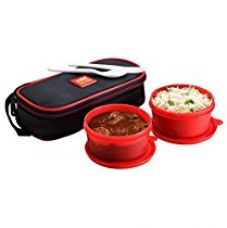 Buy Cello Max Fresh Super Polypropylene Lunch Box Set, 300ml/24cm, Set of 2, Red from Amazon