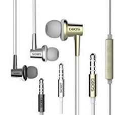 Buy GBOS® Premium Gold 135° Bevel In-Ear Design Not Easy To Fall Ear Phones Hands Free With Microphone and most features for All Apple Device Android Smartphone MP3 MP4 Portable Music Player,Tablets from Amazon