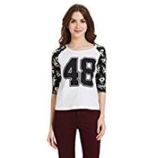 Buy Unshackled Women's Solid T-Shirt from Amazon