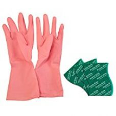 Buy Scotch-Brite Kitchen Gloves Medium Pair (Pack of 1) and Scrub Pad Large (Pack of 3) from Amazon