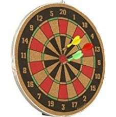 Buy Wood O Plast 16-inch Dart Board Set, Multi Color from Amazon