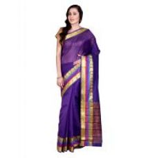 Buy Parchayee Solid Purple Mysore Chanderi Art Silk Saree 94467D for Rs. 519