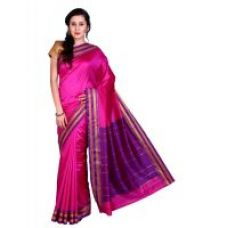 Parchayee Solid Pink Mysore Art Silk Uppada Saree 94840B for Rs. 1,599