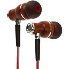Buy Symphonized NRG 3.0 Premium Wood In-ear Noise-isolating Headphones|Earbuds|Earphones with Mic & Volume Control (Crimson Red & Hazy Gray) from Amazon