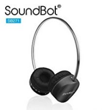 SoundBot SB271 Stereo Bluetooth 4.1 (Latest Version) Wireless Headphone for Music Streaming & Hands-Free Calling w/ 12Hrs Talk Time, 250Hrs Standby Time, Built-in Mic, Noise Reduction Ear-cup (BLACK) for Rs. 2,499