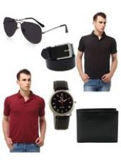 Buy Lime Combo of 2 Men's Polo T-Shirt and Accessories from Infibeam