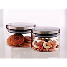 Borosil Classic Glass Jar Set, 300ml, Set of 2 for Rs. 548