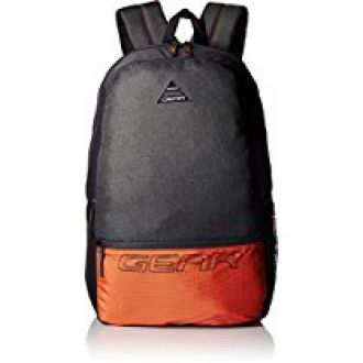 Buy Gear 24 Ltrs Grey and Orange Casual Backpack (METBPECO60406) from Amazon