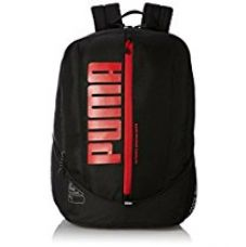 Buy Puma Black and Flame Scarlet Casual Backpack (7333301) from Amazon
