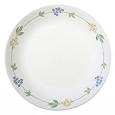 Buy Corelle Livingware Secret Garden Dinner Plate, 26.2cm, 6 Pieces, white from Amazon