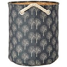 Miamour Tree Design Fabric Laundry Hamper, Grey for Rs. 627