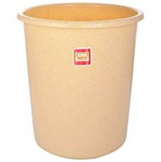 All Time Plastic Waste Paper Basket, Granite Biscuit for Rs. 125
