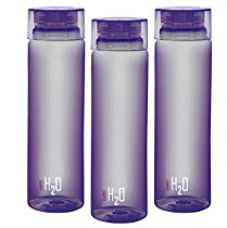 Buy Cello H2O Unbreakable Bottle , 1 Litre, Set of 3, Purple from Amazon