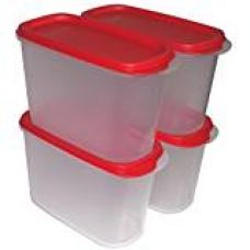 Buy Tupperware New Smart Saver Plastic Container Set, 1.7 Litres, Set of 4, Transparent from Amazon